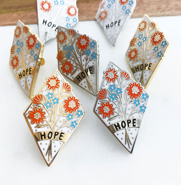 Hope Enamel Pin Badge