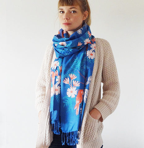 Limited Edition Indian Summer Scarf - Blue