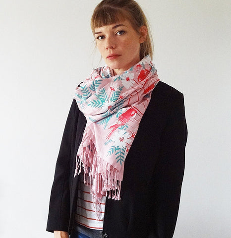 Limited Edition Indian Summer Scarf - Pink