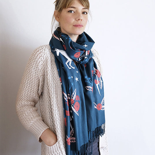 **NEW!** Limited Edition Totally Magic Scarf - Peacock