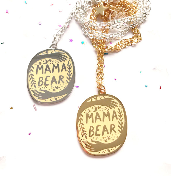 **SECOND!** Mama Bear Pendant - Cream