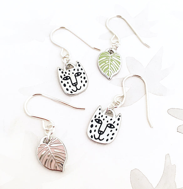 Limited Edition Rainforest Earrings - Silver