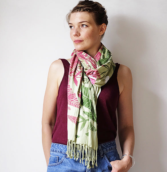 Limited Edition Rainforest Scarf - Green