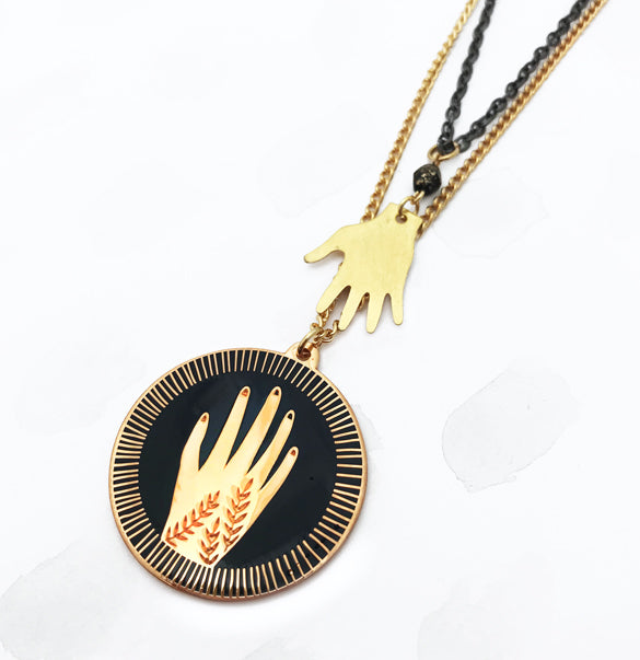 **SECOND!** Reaching Hands Pendant Necklace