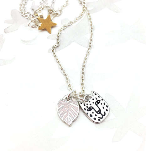 Limited Edition Rainforest Necklace - Silver/Pink