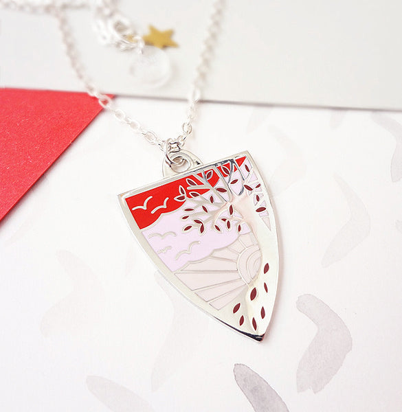 Autumn Personalised Pendant - Silver