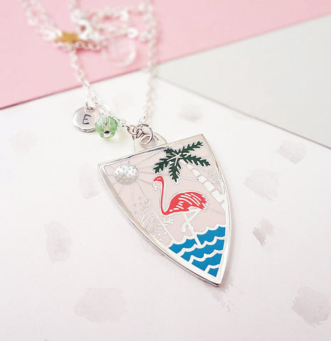 Summer Personalised Pendant - Silver
