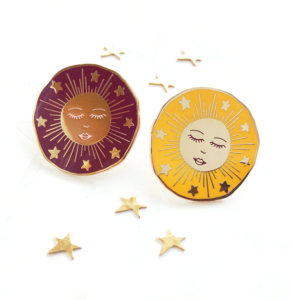**NEW!** Limited Edition Celestial Bodies Sun Enamel Pin Badge