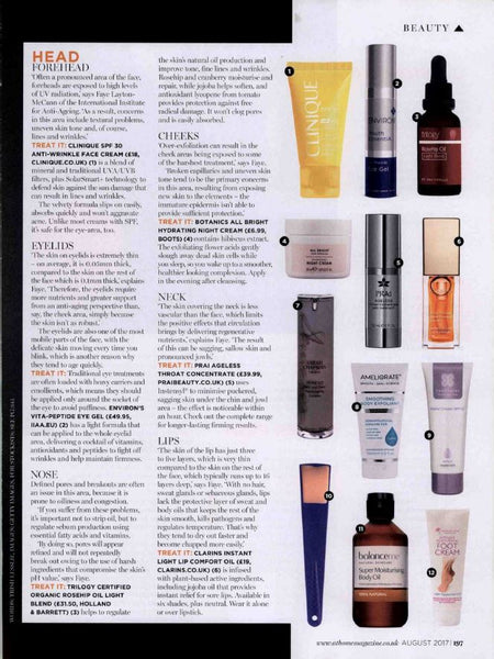 At Home Magazine August 2017 PRAI Beauty Throat Concentrate
