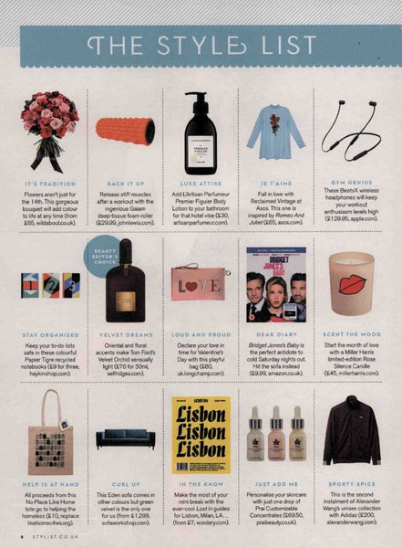 Style Magazine The Style List February 2017 - PRAI Beauty Customizable Concentrates