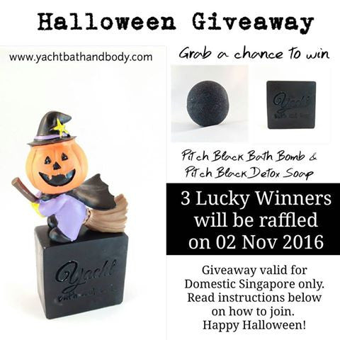 Announcement:  Halloween Giveaway 2016