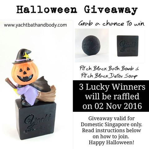 yacht bath and body halloween giveaway