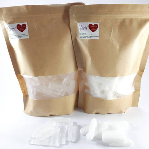 1 Kg. Transparent & Opaque Melt & Pour Soap Base Strips Combo - 100% Vegan - Yacht Bath and Body