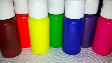 Rainbow Soap non-bleeding neon colorants in dropper plastic bottles - Yacht Bath and Body