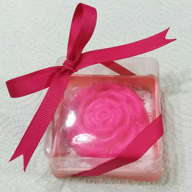 Customized Flower theme soap for Jose & Josefina's 70th birthday, 160 pcs - Yacht Bath and Body