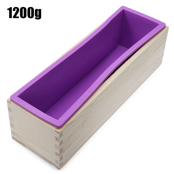 Soap loaf mold with wooden base, Capacity 900g or 1200g - Yacht Bath and Body