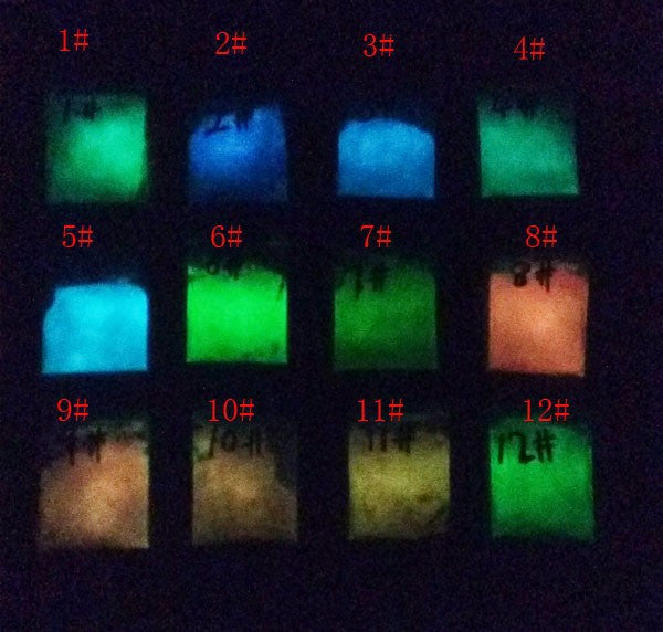 100g Glow in the dark powder colorant, 12 variants to choose from - Yacht Bath and Body