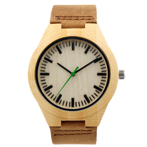 Unisex watch with cowhide leather strap Code YW03-001 - Yacht Bath and Body