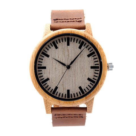 Men's watch with cowhide leather strap Code YW01-004 - Yacht Bath and Body