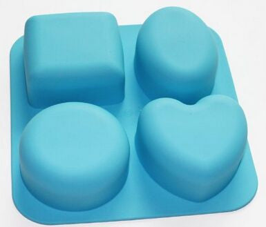 Basic Square Heart Oval Round Soap Silicone Mold Candle Making for Homemade - Yacht Bath and Body