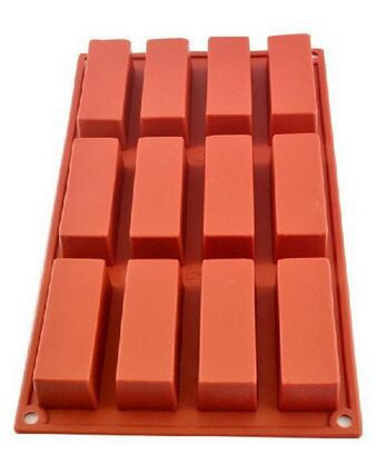 12 Cavities Rectangle Soap Mold - Yacht Bath and Body