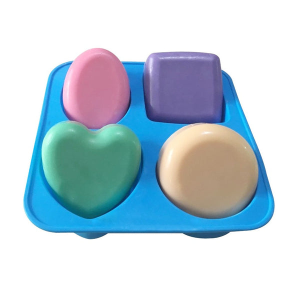 4 Cavity assorted shaped mold - Yacht Bath and Body
