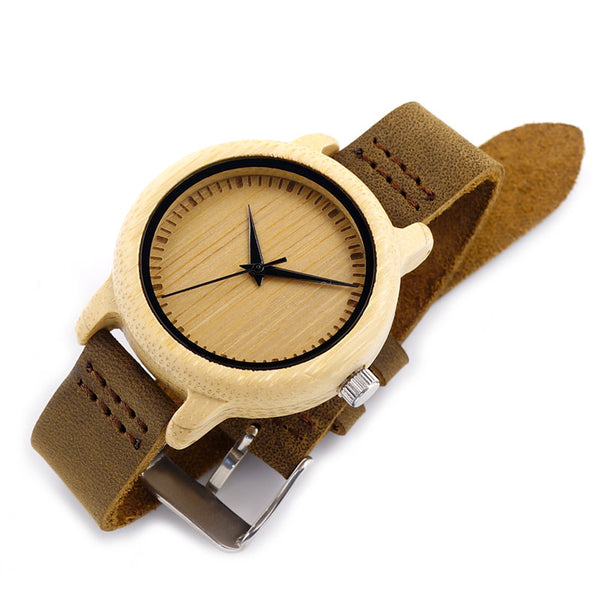 Women's watch with cowhide leather strap Code YW02-001 - Yacht Bath and Body