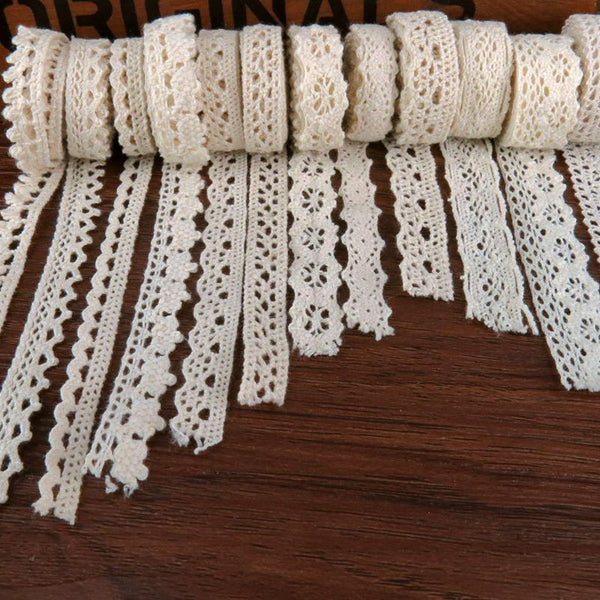 5 Meters DIY Ivory Cream Crochet Lace embellishment (Options: size and design) - Yacht Bath and Body