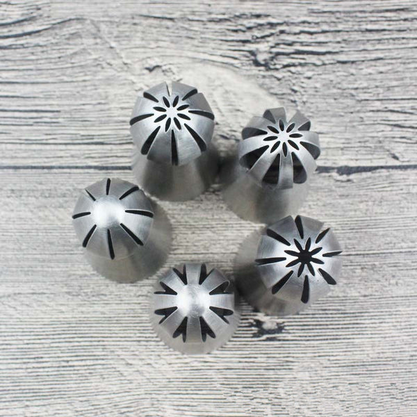 5 pcs Sphere Ball Shape Russian Nozzles - Piping Decorating Tips - Yacht Bath and Body