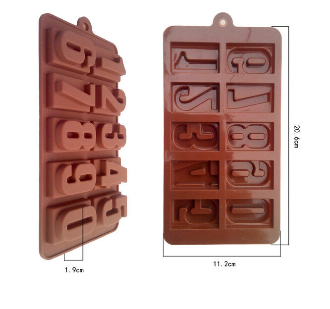 Numbers theme silicon mold, 1 Pc - Yacht Bath and Body