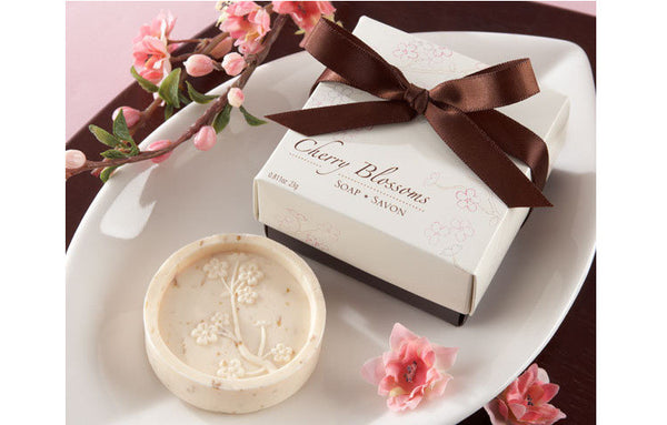 10 Pcs Cherry Blossoms / Sakura theme soap party favors - Yacht Bath and Body