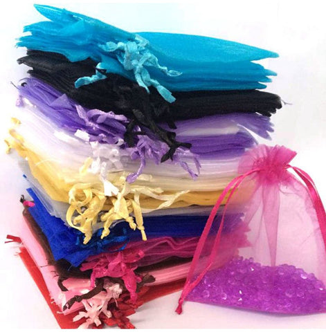 50pcs 7x9 or 9x12cm Organza Bag (2 sizes, 12 color options) - Yacht Bath and Body