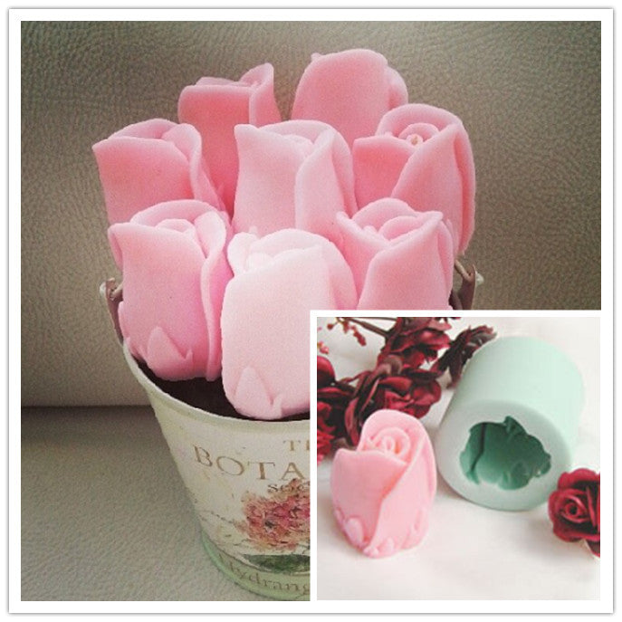 Rose share silicon mold - Yacht Bath and Body