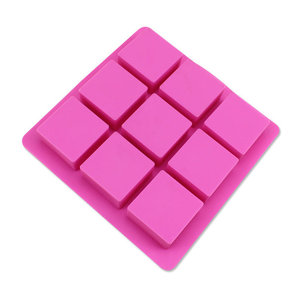 Square silicon mold, 9 cavity - Yacht Bath and Body