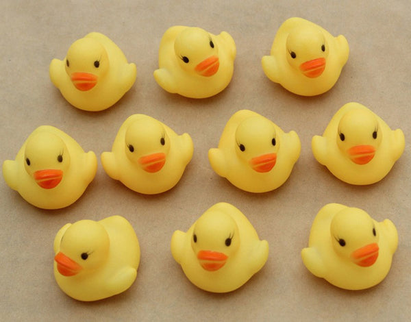 Rubber Ducky Bath toys, 10 pcs - Yacht Bath and Body