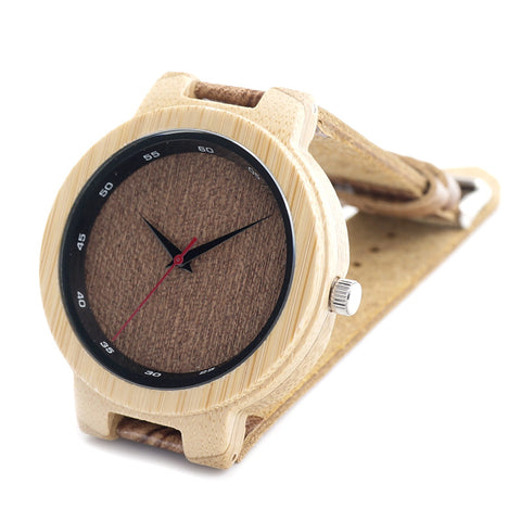 Men's watch with Grain leather strap Code YW01-005 - Yacht Bath and Body