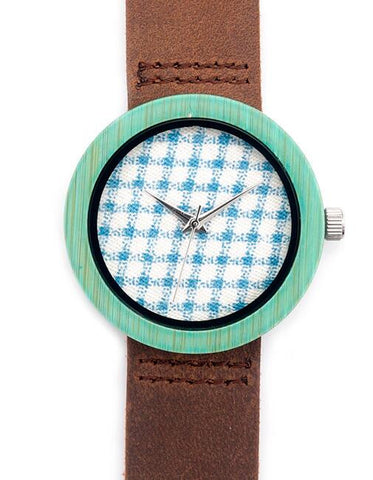 Fabric printed women's luxury watch with cowhide leather strap - Yacht Bath and Body