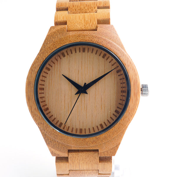 Men's bamboo wooden watch with wood strap - Yacht Bath and Body