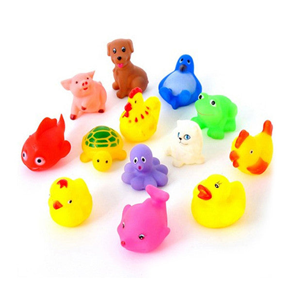 Assorted rubber bath toys, 13 pcs - Yacht Bath and Body