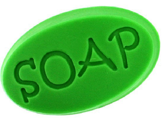 "5 pcs Oval mold with engraved ""soap"" wording - Yacht Bath and Body"