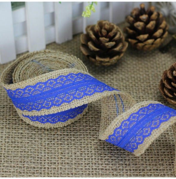 2M of 6cm Natural Burlap Jute ribbon - Yacht Bath and Body