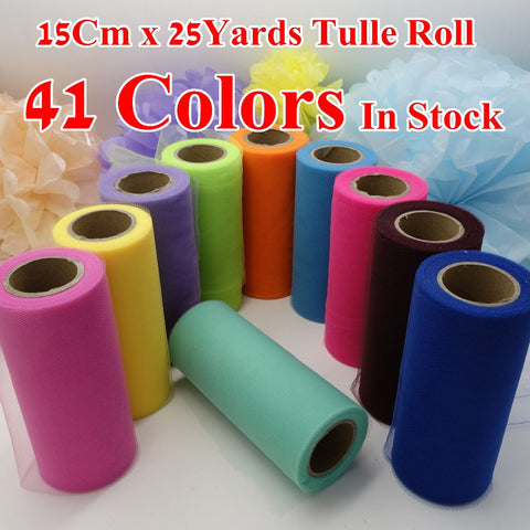 (25Yards/Lot) 6inch 15cm Tulle Roll - Yacht Bath and Body