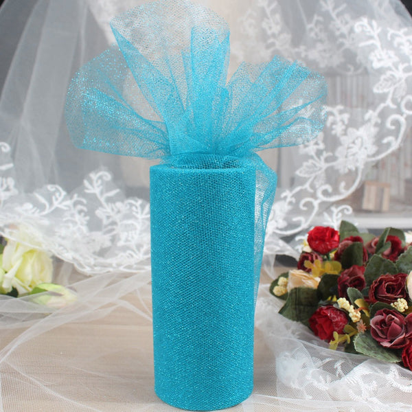 "6""x25yd Glitter Tulle roll - Yacht Bath and Body"