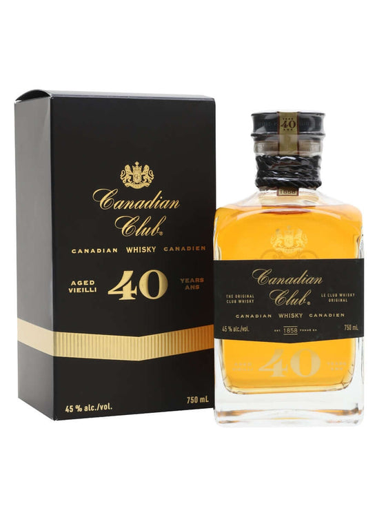 Canadian Club 40 Year Old 750ml - The Rare Whisky Shop