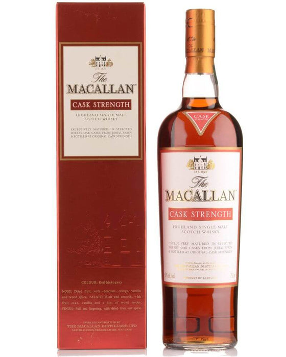 Macallan Cask Strength Sherry Cask 750ml - The Rare Whiskey Shop
