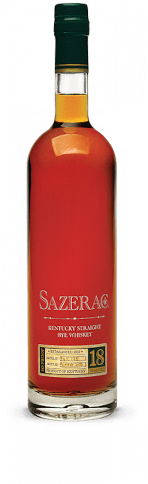 Sazerac Rye 18 Year Old 2018 750ml - The Rare Whiskey Shop