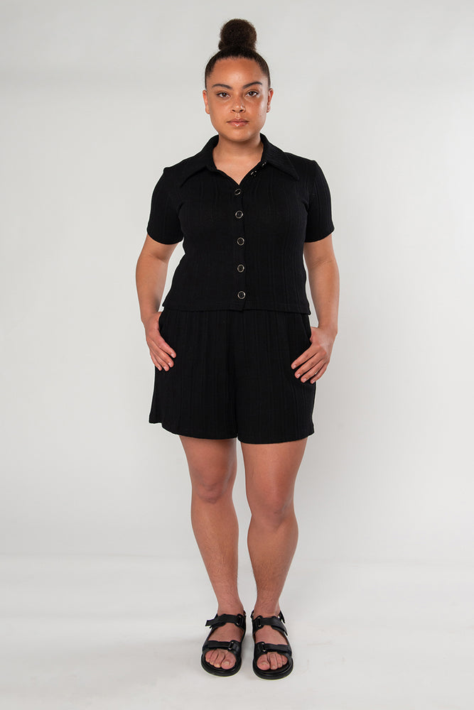 Sylvie Short Sleeve - Black