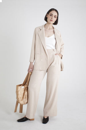 Relaxed Blazer - Honeycomb
