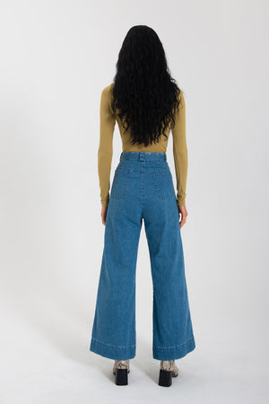 Nara Flare - Washed Denim