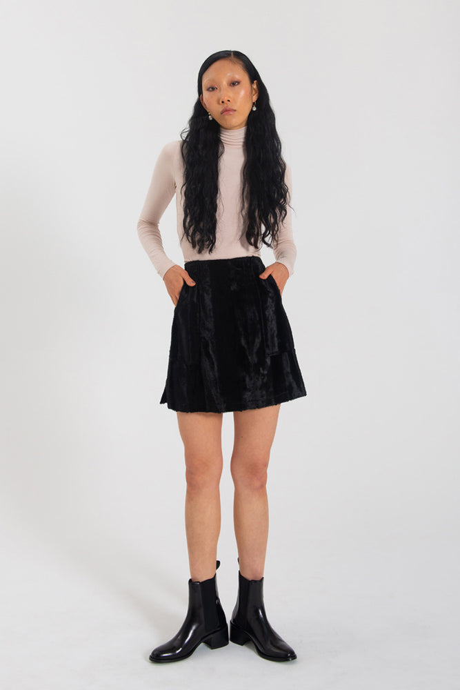 Nina Skirt - Black fur